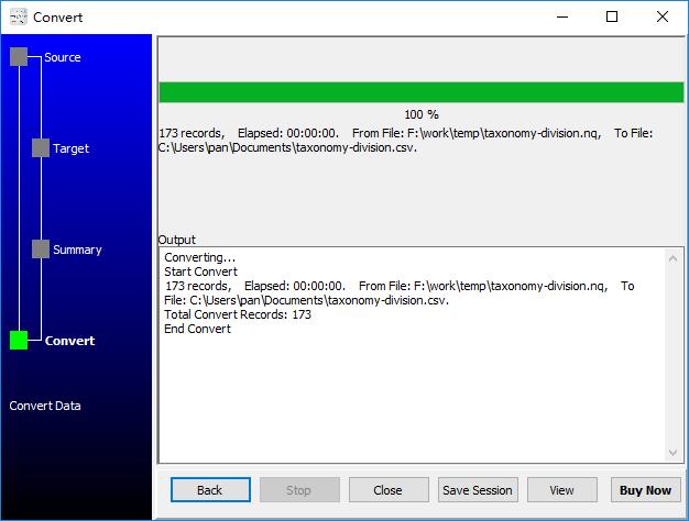 convert RDF N-Quads file to Csv file - convert to Csv file