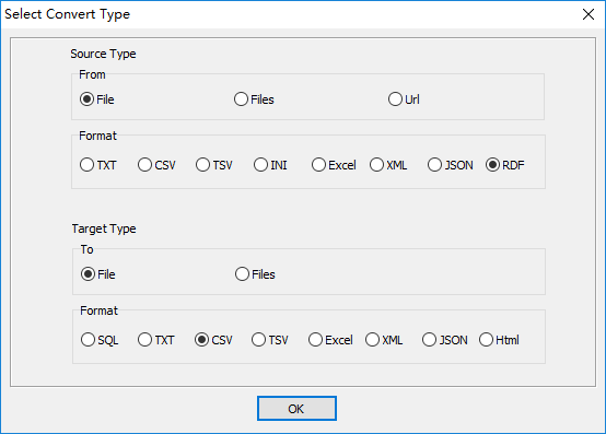 convert RDF N-Quads file to Csv file - select type