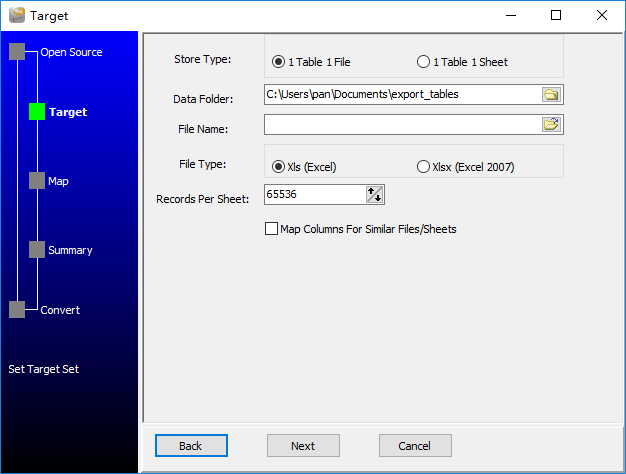 Extract data from Azure SQL database Tables To Excel Files - enter data folder