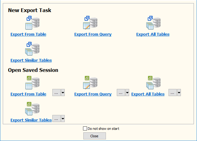 Export data from Azure SQL database Query Results To Excel File - task window
