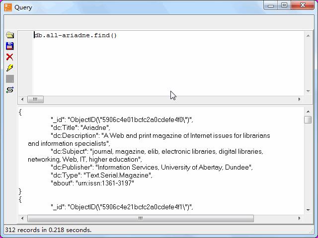 Store RDF file to MongoDB - view  MongoDB collection