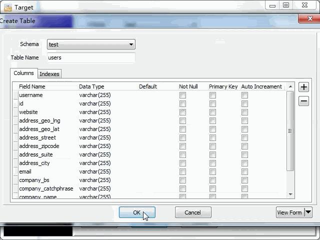 import online RSS feeds to MySQL - create MySQL table