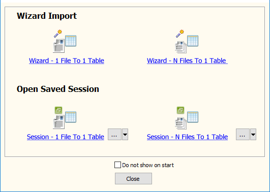 Batch import RDF data To DB2 - task window