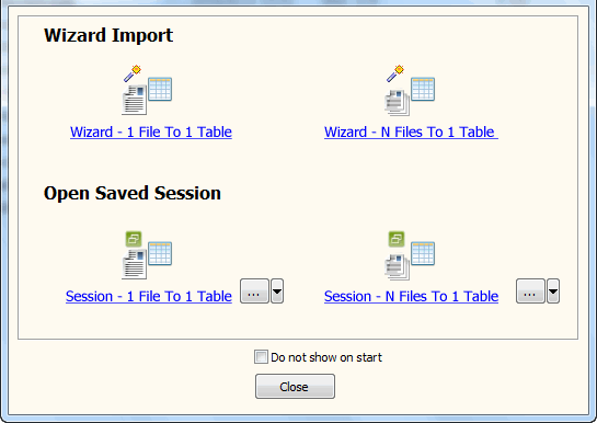 Batch import Excel files data To Azure SQL database - task window