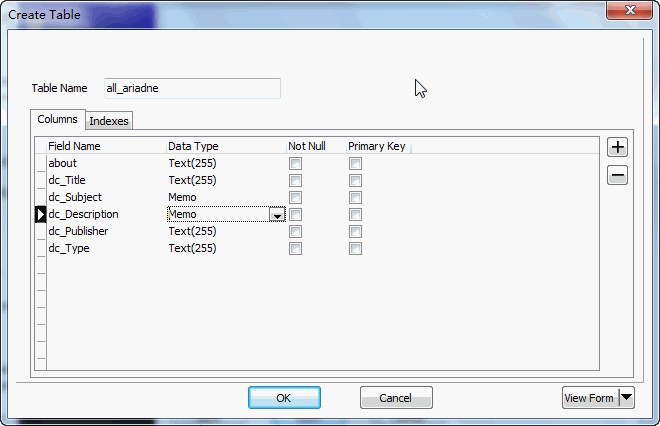 Extract RDF file to Access - create Access table