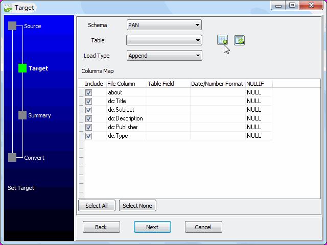 Save RDF file to DB2 - config DB2 table