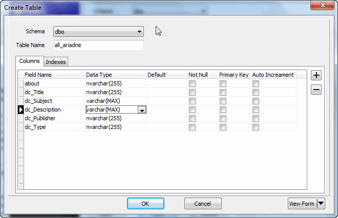 Extract RDF file to SQL Server - create SQL Server table