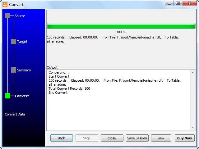 Convert RDF file to Dbf (dBase, FoxBase, FoxPro) - import to Dbf (dBase, FoxBase, FoxPro)