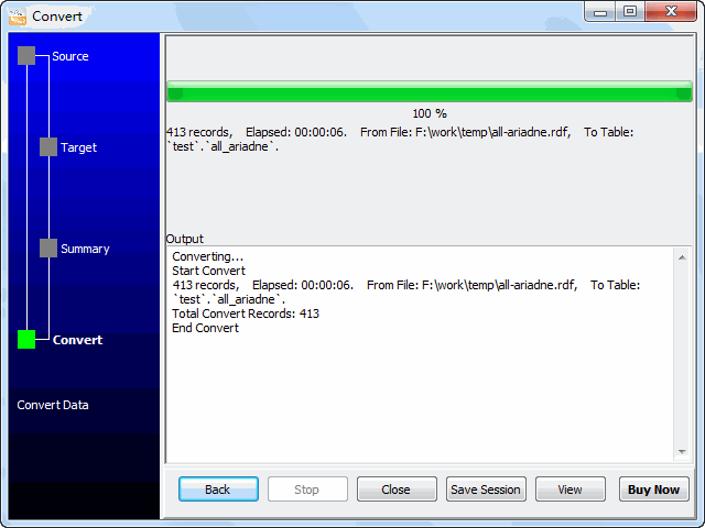 Convert RDF file to MySQL - import to MySQL