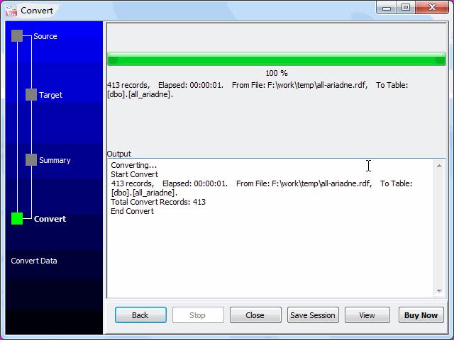 Convert RDF file to SQL Server - import to SQL Server