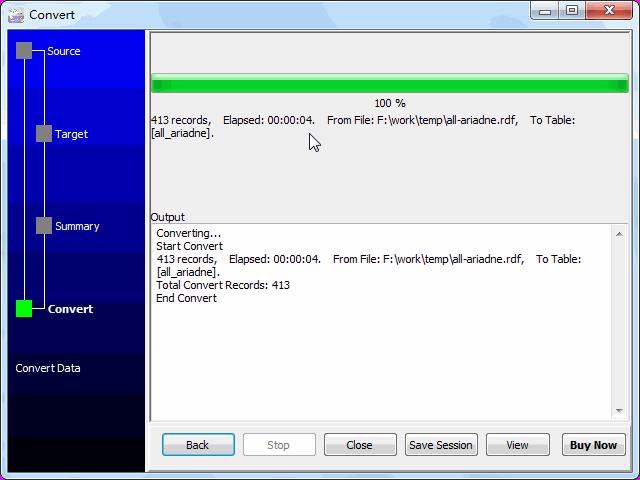 Convert RDF file to SQLite - import to SQLite