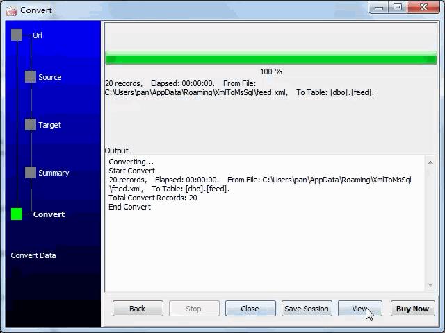 import online RSS feeds to SQL Server - import to SQL Server