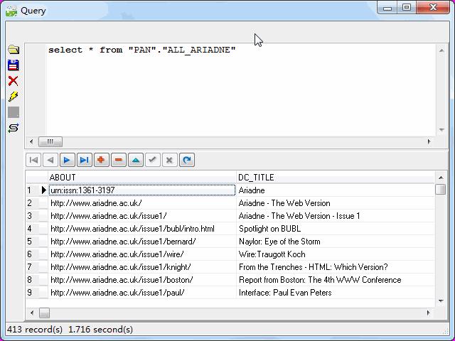 Store RDF file to DB2 - view  DB2 table